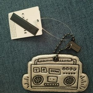 COACH Keith Haring Boombox keychain/bag tag